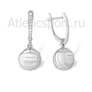 серьги для волейболиста украшения из серебра 3