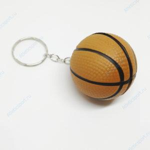 брелок баскетбольный мяч на подарок баскетболисту коричневый